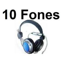 10 Fones De Ouvido Fancong 915mv C/ Controle De Volume