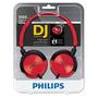 Fone De Ouvido Philips Dj Shl3000rd/00 Vermelho E Preto C/nf