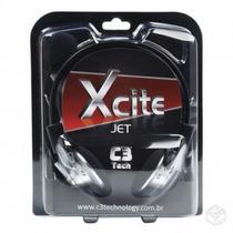Fone Headphone C3 Tech Headset Xcite Jet Mi-2330rs