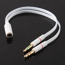 Adaptador Para Pc- 1 P2 Fone De Ouvido Com Microfone X 2 P2