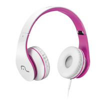 Fone Com Microfone Para Celular Branco E Rosa - Ph114