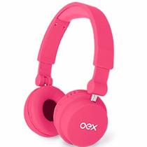 Fone De Ouvido C/ Micro Microfone Dobrável Rosa Hp103 Oex