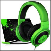 Fone Razer Kraken Pro Green Headset + Mousepad Jayob Grátis