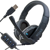 Fone Ouvido Headset Gamer Usb Pc Led League Of Legends 7.1