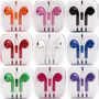 Fone Ouvido Apple Microfone Iphone 5 Colorido Kit 3pçs
