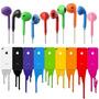 Fone Ouvido Earpods Iphone 4s 5 5c 5s Ipad Ipod P2 Colorido