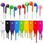 Fone Ouvido Earpods Iphone 5 5c 5s Ipad Ipod P2 Colorido F9