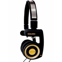 Fone Retorno De Palco Mr. Mix Golden Headphone Dj Porta Pró