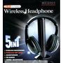 Fone De Ouvido Wireless Sem Fio 5x1 C/ Fm Monitor Skype Tv