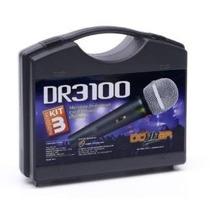 Microfone Donner Dr3100 Kit C/ 3 - Novo Loja Nfe