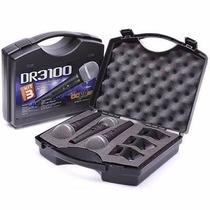 Kit 3 Microfones Dr3100 + Cabos Igual Shure Arcano Kadoshi