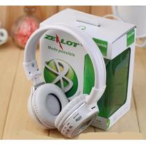 Fone De Ouvido Headphone Sem Fio Mp3 Fm Cartão Memór Microsd