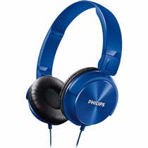 Fone Headphone Philips Dj Azul Shl3060 P2 Mp3 Pc Cabo 1,2m