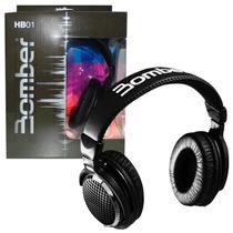 Headphone Fone De Ouvido Bomber - Hb01 Black Subwoofer Style
