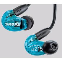Fone De Ouvido In Ear P/palco Shure Se215 Clear Blue