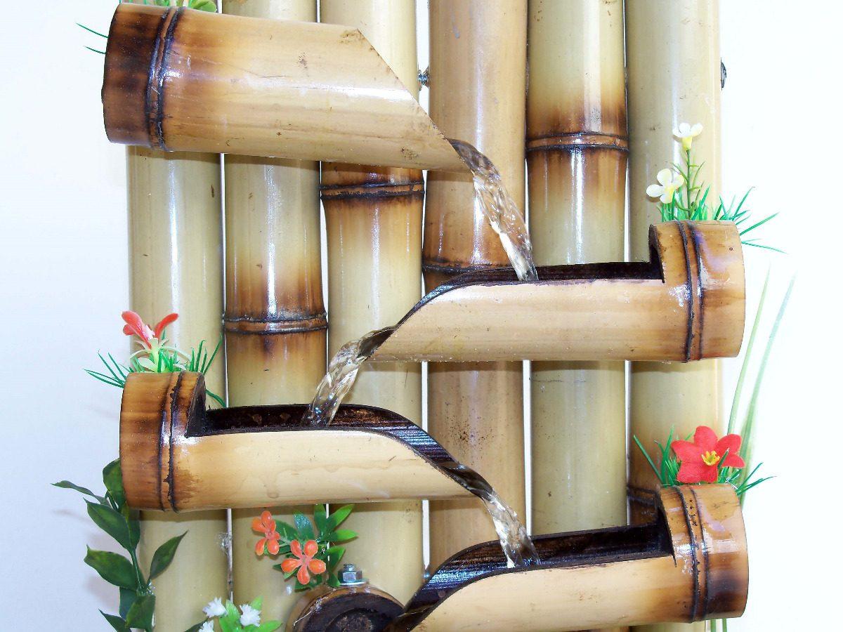 jardim vertical bambu:Fonte De água De Bambu Fotos Pictures to pin on Pinterest
