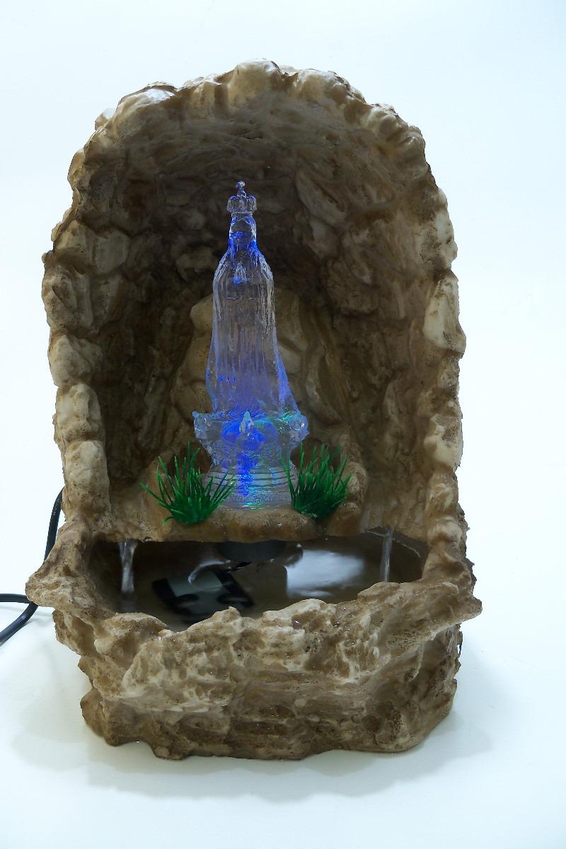 fontes de agua para decoracao de interiores : fontes de agua para decoracao de interiores:Fonte Agua Cascata Gruta Nossa Senhora Fatima Linda – R$ 119,00 no