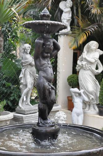 banco de ferro para jardim rio de janeiro:Fonte Anjo – Ff016 Ferro Fundido Casa E Jardim Decoração – R$ 6.450