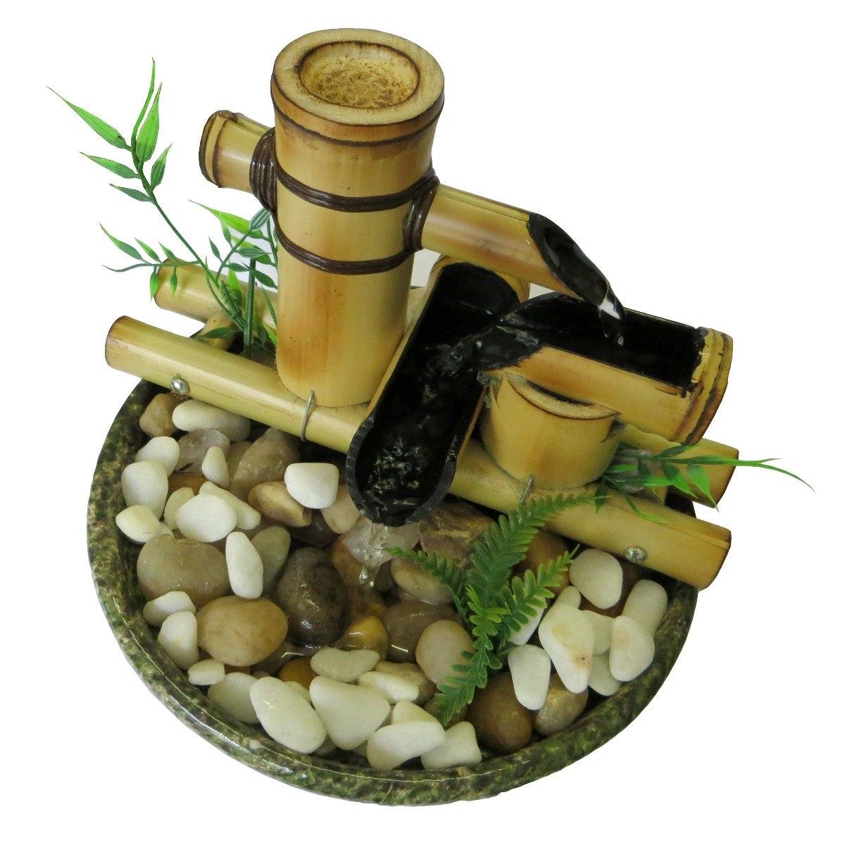 fontes de agua para decoracao de interiores:Fonte De Água Bambu Harmonia – Pague Com Cartão – R$ 118,90 no
