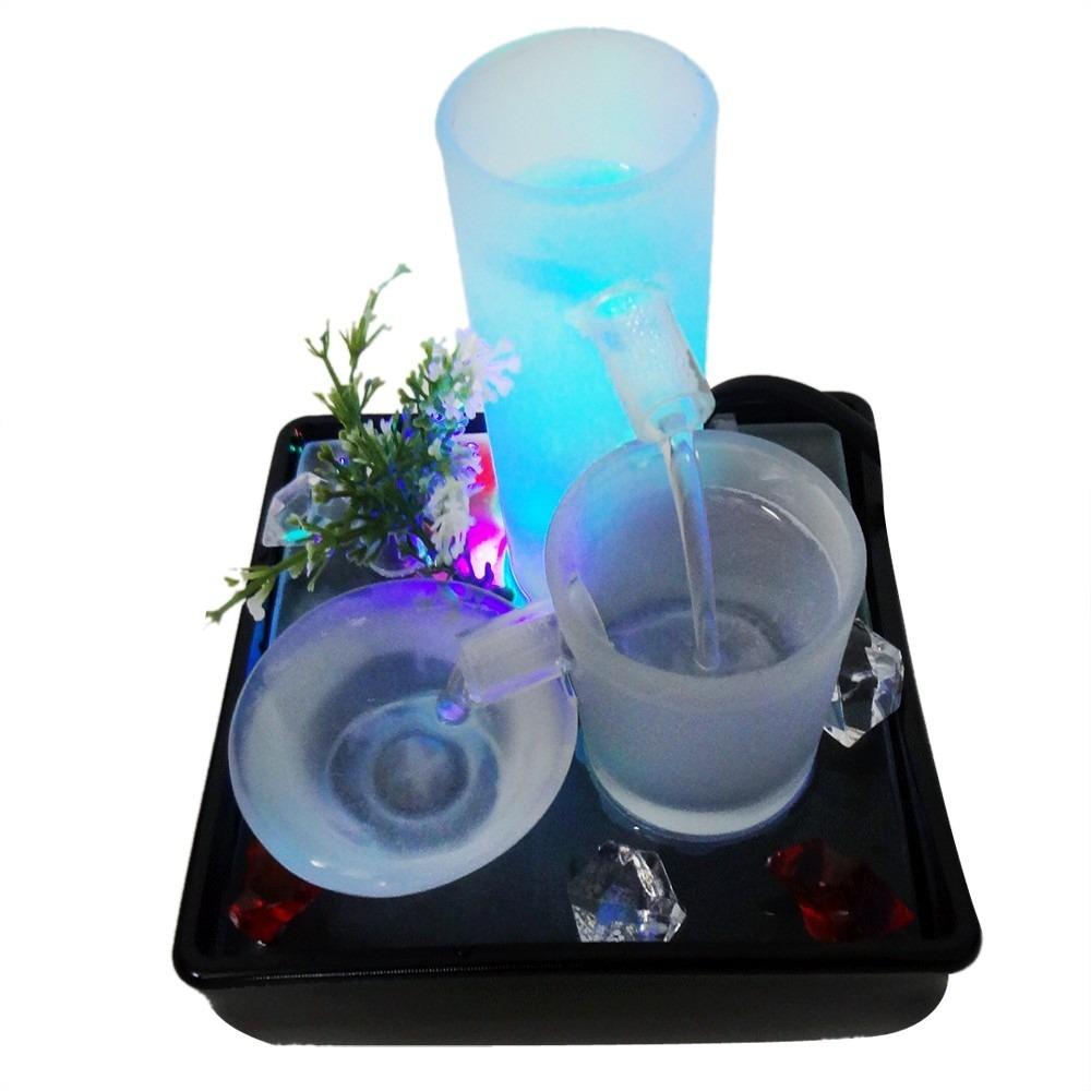 fontes de agua para decoracao de interiores : fontes de agua para decoracao de interiores:Fonte De Agua Cascata Decoração Queda De Agua Led Acalma – R$ 79,80