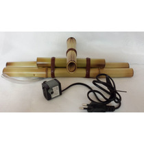 Kit Bica De Bambu 35 Cm + 1 Bombinha Para Montagem De Fonte