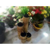 Fonte Artesanal Feita Em Bambu