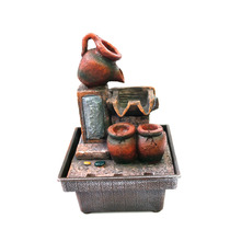 9378 - Fonte De Agua Decorativa Relaxante Vasos - 110/220v