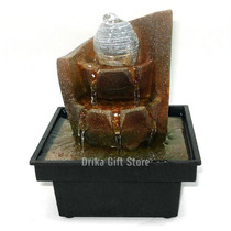 Mini Fonte De Agua Resina À Pilha Pedra Presente Criativo