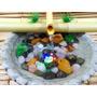 Fonte Água Bambu Pedra Ametista Luz Yoga Feng Shui Meditação