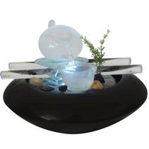 Fonte De Ceramica Decorativa Com Cascata E Quedas De Agua