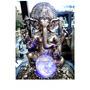 Fonte Água Ganesha Resina Pedra Luz Bola Cristal Yoga India