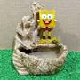 Fonte Água Cascata Decoração Bob Esponja 3 Quedas Pedras