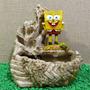 Fonte Água Bob Esponja 3 Quedas Cascata Decoração Pedras