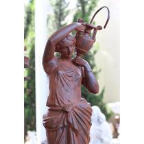 Chafariz Deusa Baixo - Fonte Para Decoração De Casa E Jardim
