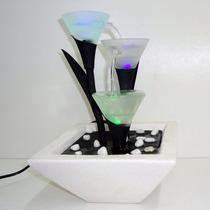Cascata Fonte De Agua Decorativa 3 Quedas Iluminada Linda Le