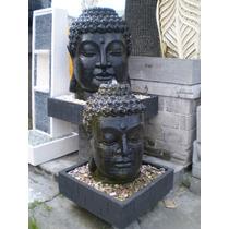 Fonte Cabeça Do Buda Importada De Bali 130cm (bem Larga)