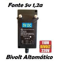 Fonte 5v 1,2a / 5 Volts 1,2 Amper Modem Adsl D-link Roteador