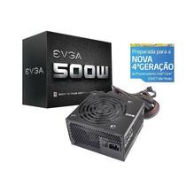 Fonte Evga - Atx 500w Reais - 100-w1-0500-kr - Pfc - 80 Plus