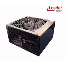 Fonte Gamer Leadertech Atx Box 500w Real Super 24p + Pci-e
