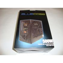 Fonte Atx 500w Fonte Bluecase Original Real 24 Pinos Game.