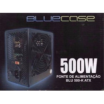 Atx 500w Fonte Bluecase Original Real 24 Pinos Pci E