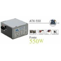 Fonte Mtek 550w 320w Real Yq-550 Big Fan 12cm