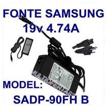 Fonte Carregador Original Samsung 19v Por 4,7a 90w Nova Nf