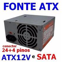 Fonte Atx Wise Wscw-500-p4s Completa 20+4 Pinos Atx12v Sata