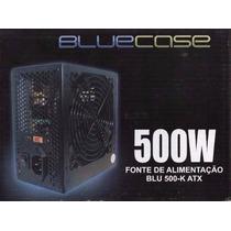Fonte Atx 500w Real Bluecase C/ Cabo Box Nova +nf+gtia