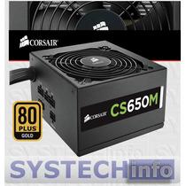 Fonte Corsair Modular 650w 80 Plus Ouro Pfc Ativo Cs650m