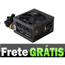 Fonte Atx 500w Real Top Gamer Bivolt 20+4 Pinos Frete Grátis