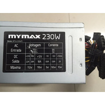 Fonte Atx Sata 24pinos Mymax230w Model Mpsu230wpc