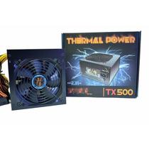 Fonte Thermal Power Atx 500w Real Diablo Series Tx500 Gamer