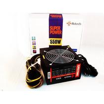 Fonte 550w Reais Astech 80plus Atx Pfc Ativo 550 W